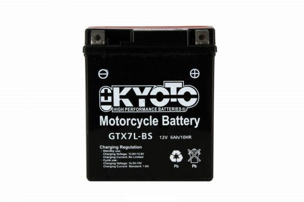 Batteria moto Kyoto Ytx7l-bs X6 - 12v 6ah - L 114mm W 71mm H 131mm - con acido senza manutenzione
