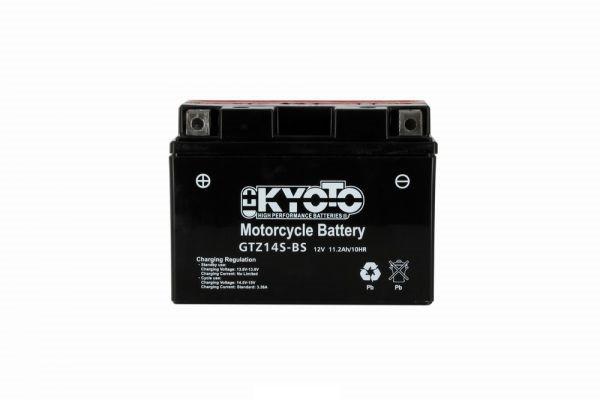 Batteria moto Kyoto Ytz14s-bs X4 - 12v 11.2ah - L 150mm W 87mm H 110mm - con acido senza manutenzione