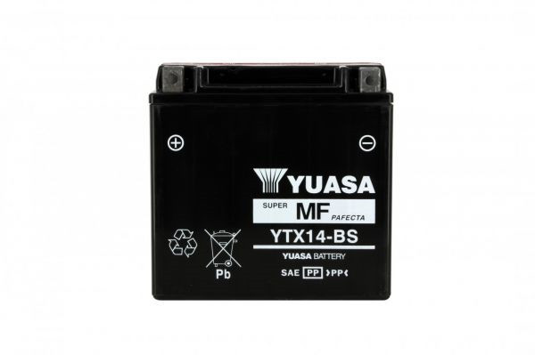 Batteria moto Yuasa Ytx14-bs X4 - 12v 12ah - L 150mm W 87mm H 147mm - con acido