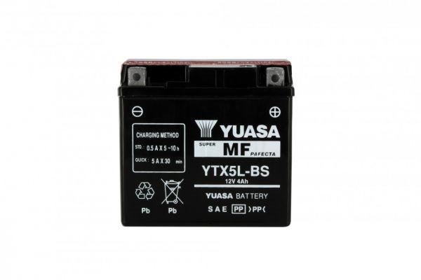 Batteria moto Yuasa Ytx5l-bs X6 - 12v 4ah - L 114mm W 71mm H 106mm - con acido
