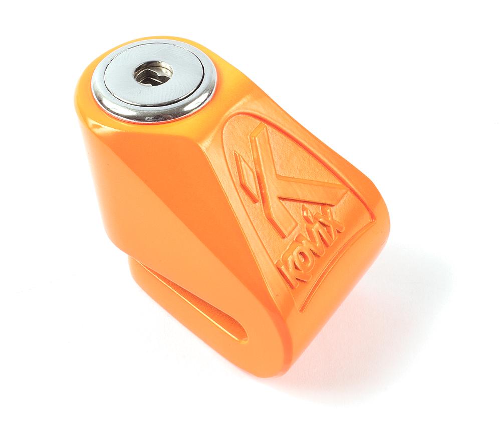 Bloccadisco mini Kovix kn1 perno 6mm arancione fluo