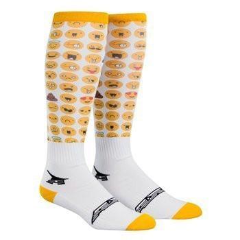 Calze tecniche cross Axo Off Road Socks Bianco Giallo