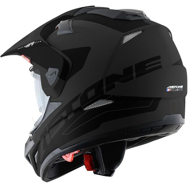 351cd69d5e3 Casco cross Astone Helmets Cross Tourer Adventure nero opaco