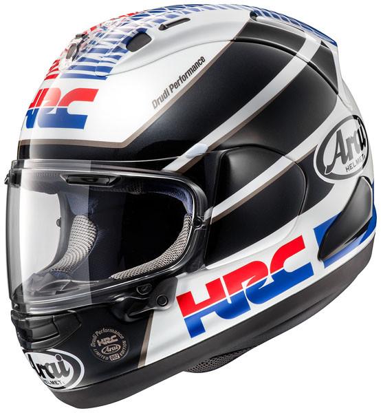 Casco Integrale Arai Rx 7 V Hrc Honda Racing Corporation In Fibra