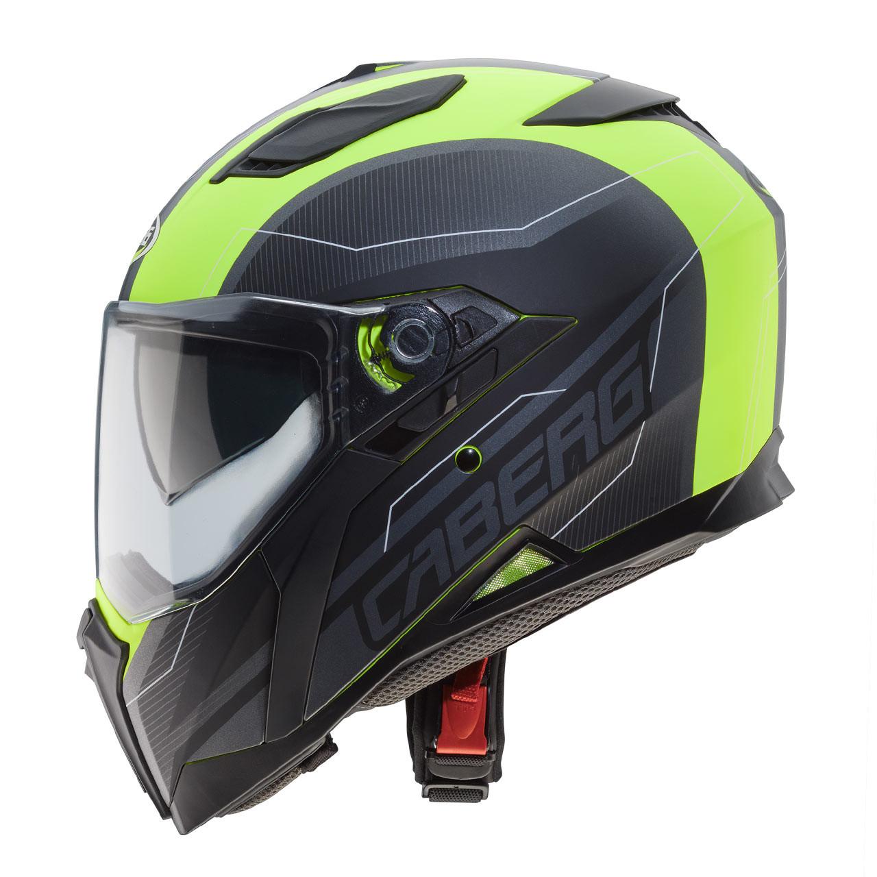 Giallo Fluo Opaco//Antracite//Nero Caberg casco Jackal Taglia XS