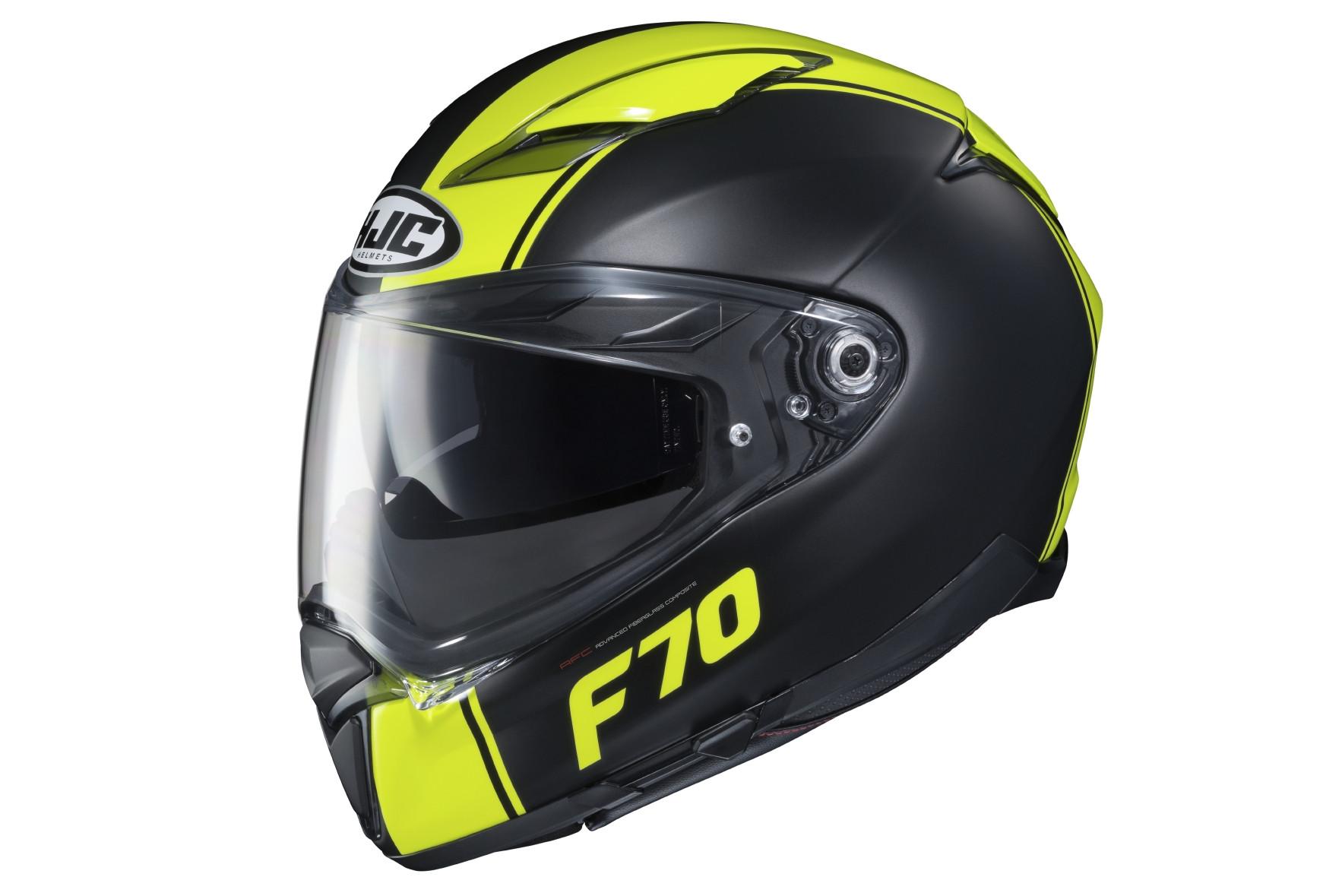 Nero//Giallo M Casco moto HJC F70 MAGO MC4HSF
