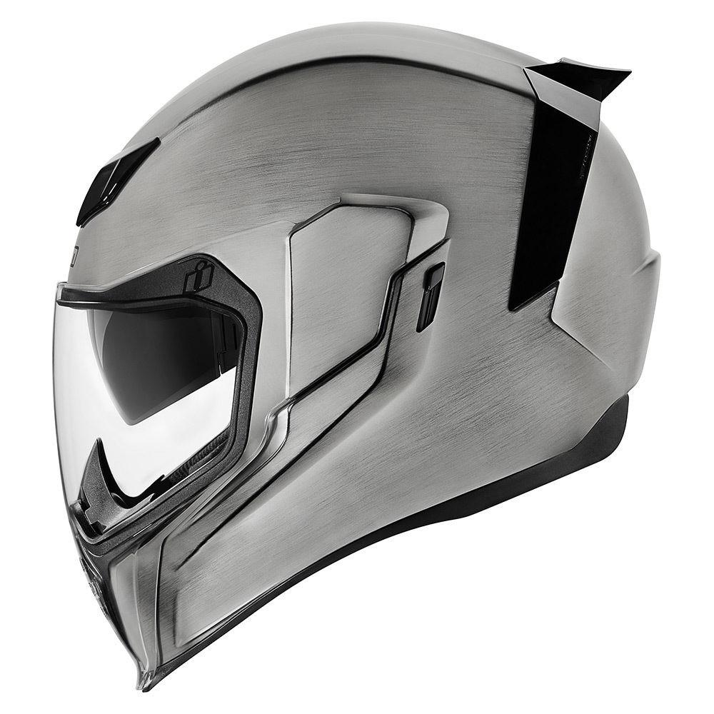 argento Icon Airflite Quicksilver casco per moto