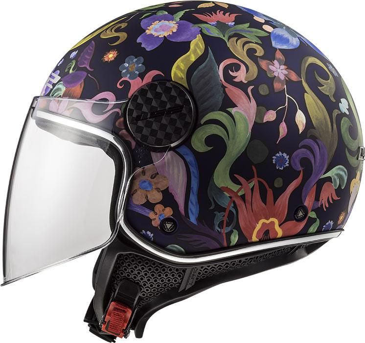 Caschi Moto OF558 Sphere Lux Bloom Blu Rose LS2