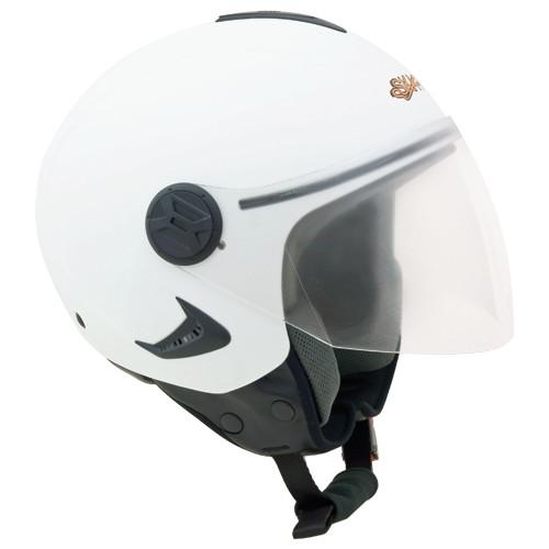 Casco jet Ska-P 1RH Iridium Bianco perlato
