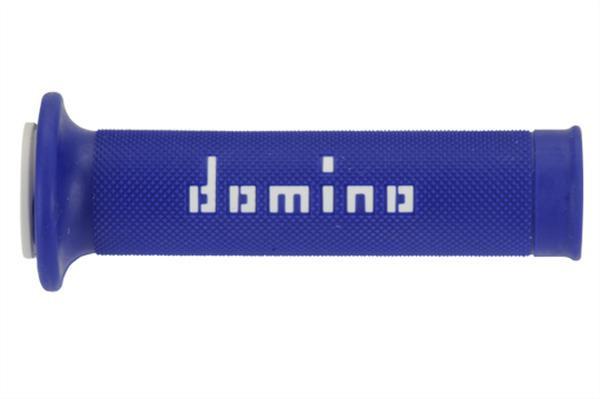 Coppia manopole stradali Domino Blu Bianco