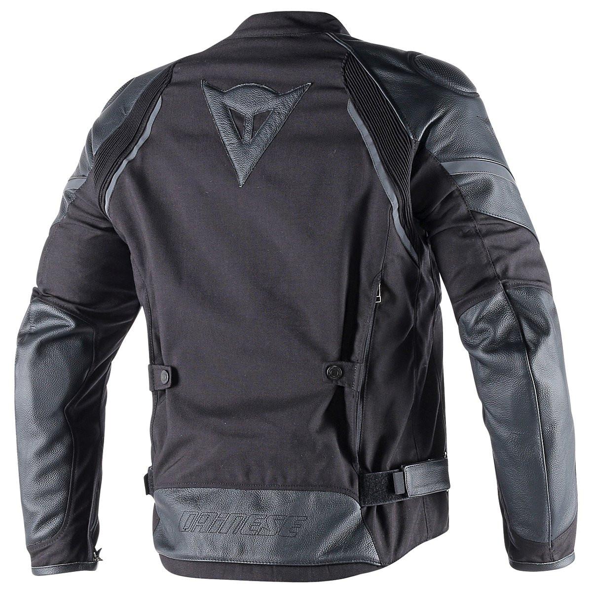tessuto nero pelle giacca