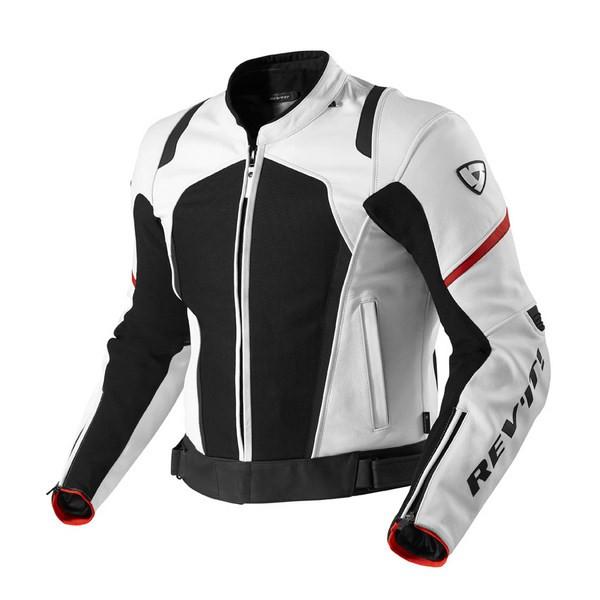 brand new 61c86 94caa Giacca moto pelle Rev'it Galactic Bianco Nero
