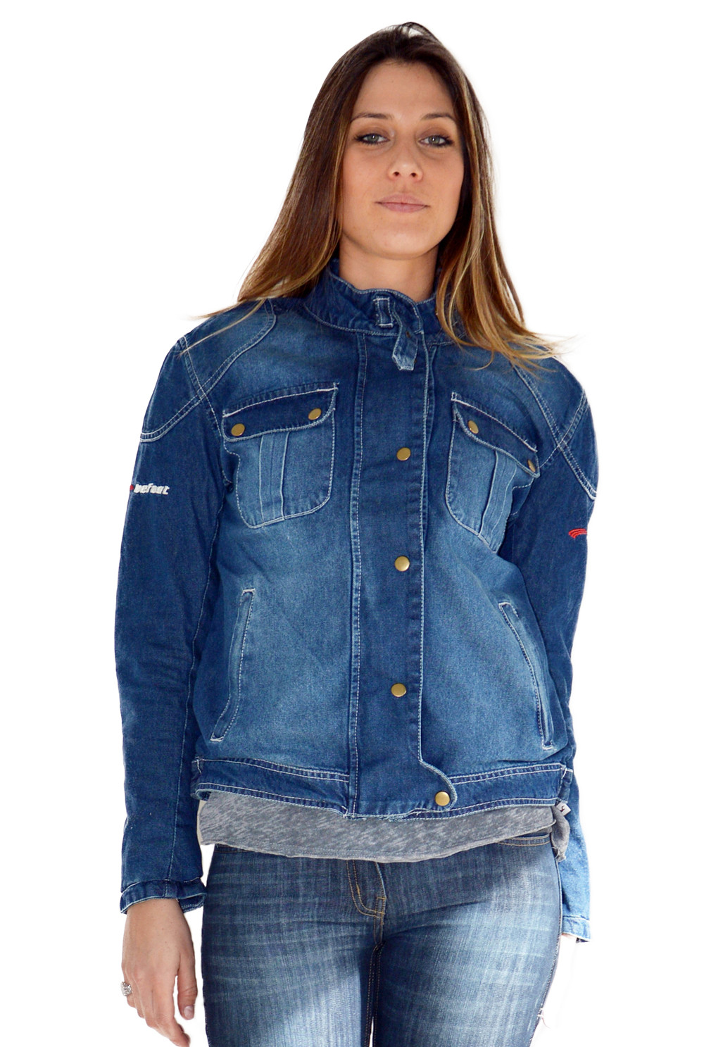 the best attitude 5cb6f a496e Giacca moto donna estiva jeans Befast James Lady