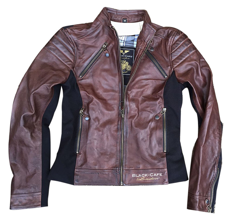 reputable site 45835 87b61 Giacca moto donna pelle Black Cafè London LJ10685 Marrone