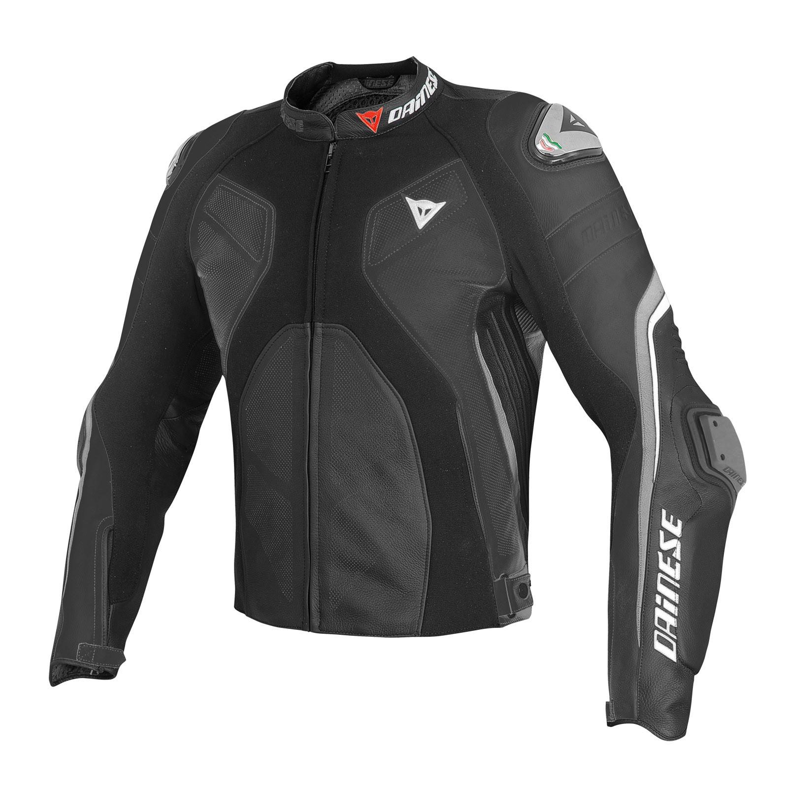 comprare popolare 383b0 d4776 Giacca moto pelle estiva Dainese Super Rider Nero Antracite