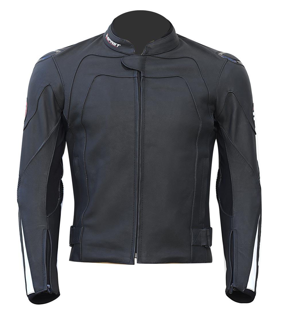 79470926c6 Giacca moto pelle racing Befast Faster Nero