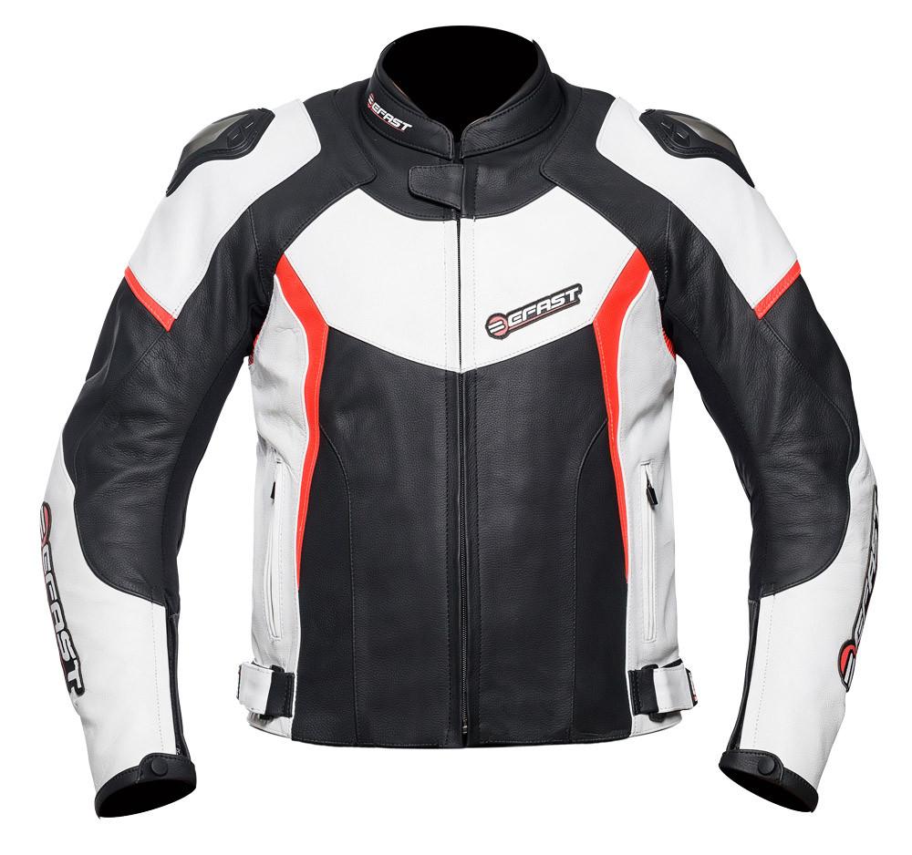 cdc75808a18e Giacca moto pelle racing Befast FastRide Nero Bianco