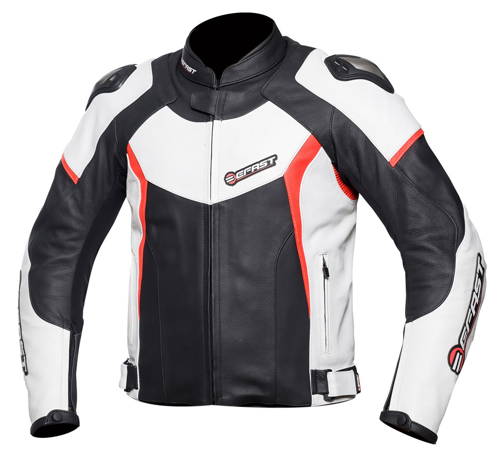 wholesale dealer a80c4 eb890 Giacca moto pelle racing Befast FastRide Nero Bianco