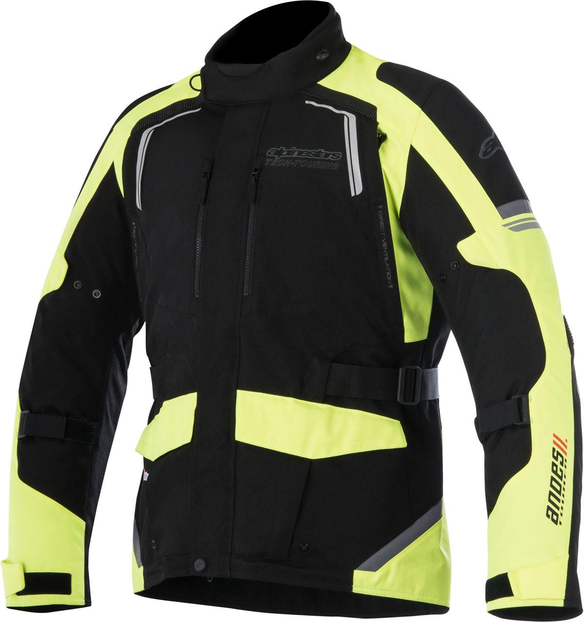 Giacca moto Alpinestars ANDES V2 DRYSTAR nero giallo fluo