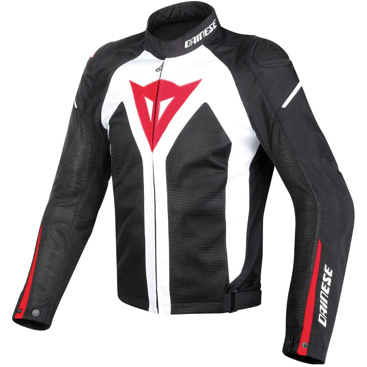 Giacca moto Dainese Hyper Flux D Dry bianco nero rosso
