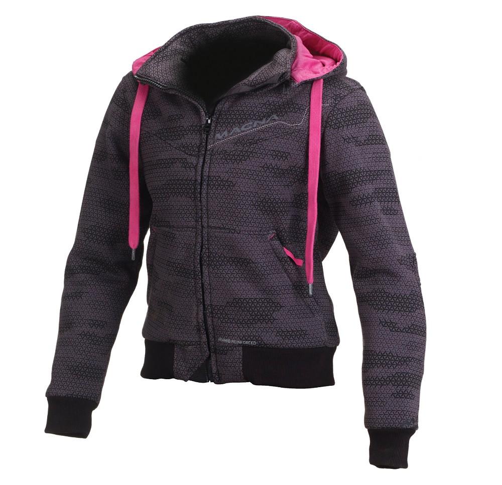 premium selection e8fb4 d08a5 Felpa moto donna Macna Freeride con rinforzi in Fibra Aramidica nero grigio  camo rosa
