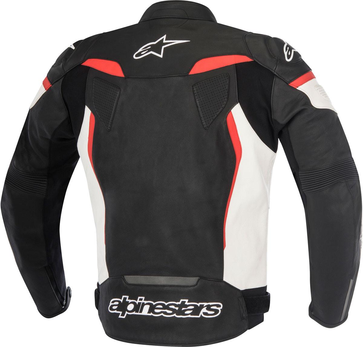4c9a8a1feccbb8 Giacca moto pelle Alpinestars GP PLUS R V2 nero bianco rosso