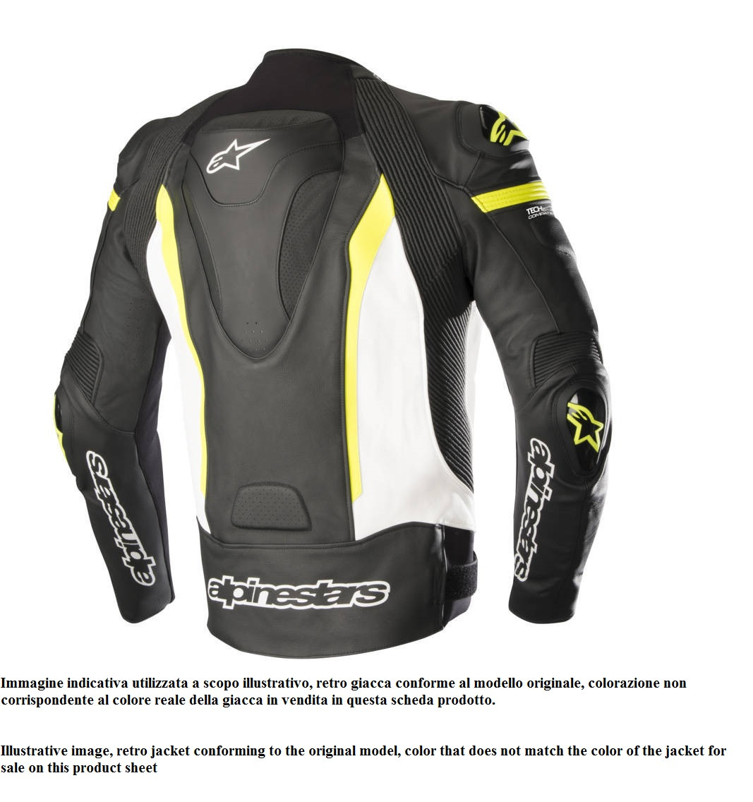 reputable site df4e8 f73d4 Giacca moto pelle Alpinestars MISSILE TECH AIR COMPATIBILE Nero Bianco