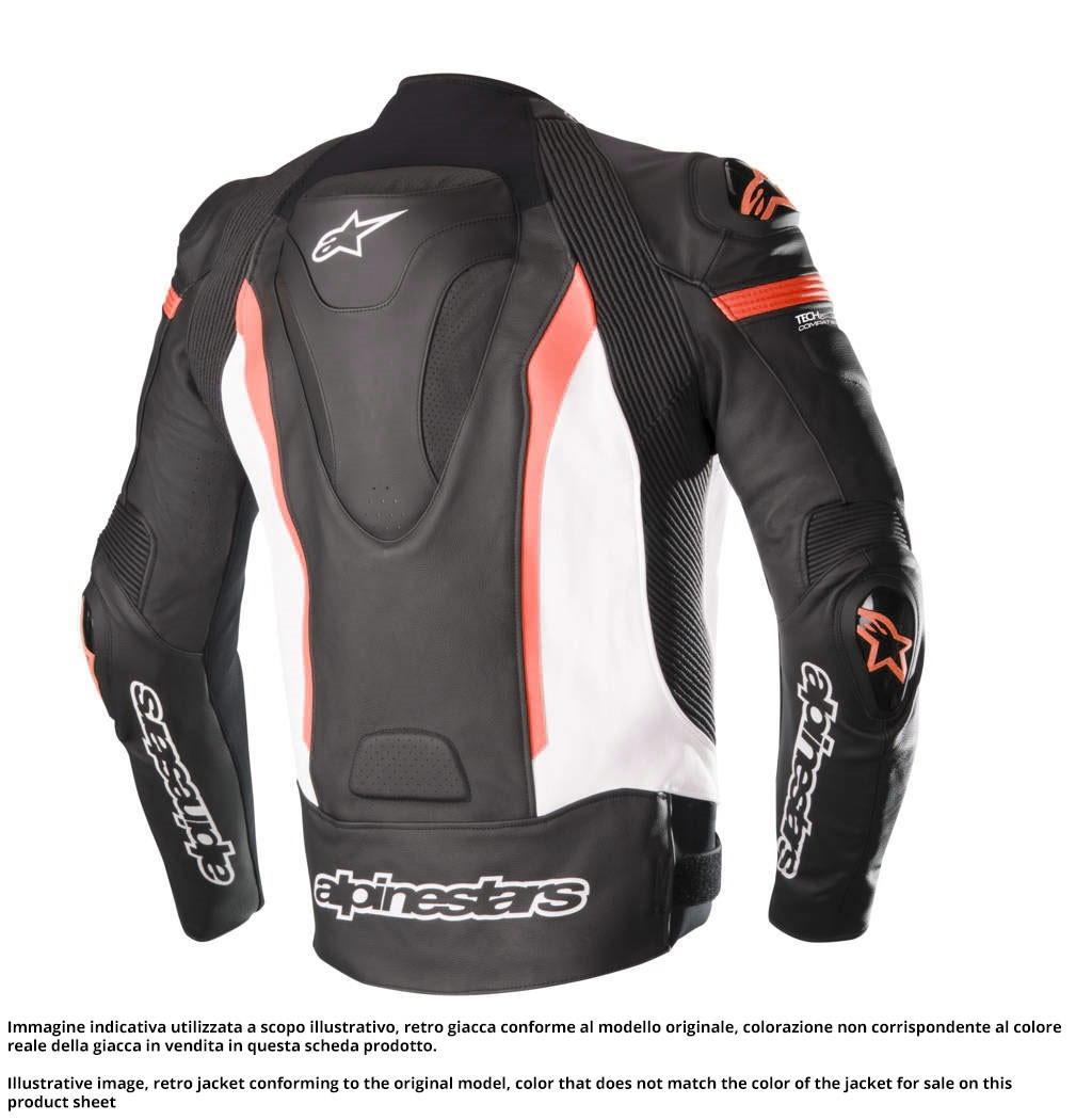 new arrival af821 34090 Giacca moto pelle Alpinestars MISSILE TECH AIR COMPATIBILE Nero Bianco Rosso