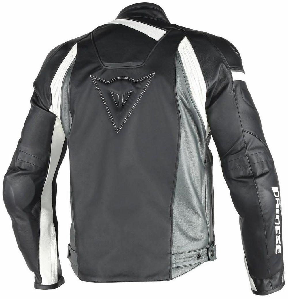Antracite Dainese Veloster Moto Nero Bianco Giacca Pelle PEqHxxX