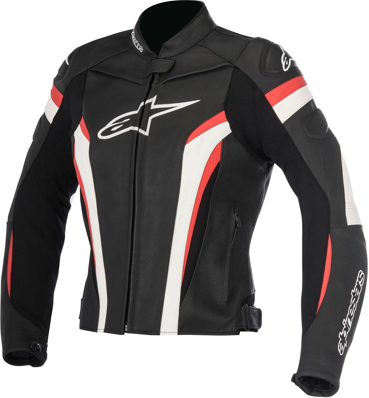 93f2032ae2c51b Giacca moto pelle donna Alpinestars STELLA GP PLUS R V2 nero bianco rosso
