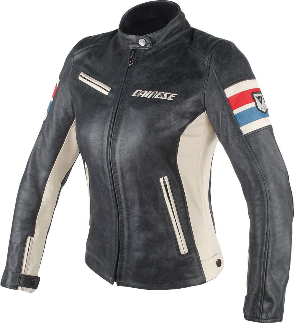 sale retailer 2f5f7 a5fbc Giacca moto pelle donna Dainese Lola D1 Lady nero ghiaccio rosso blu