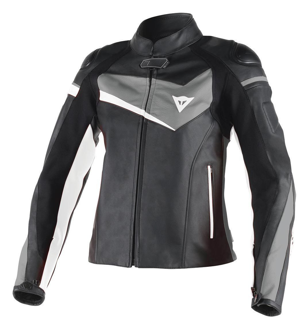 best service 4a874 e83d4 Giacca moto pelle donna Dainese Veloster Lady nero antracite bianco