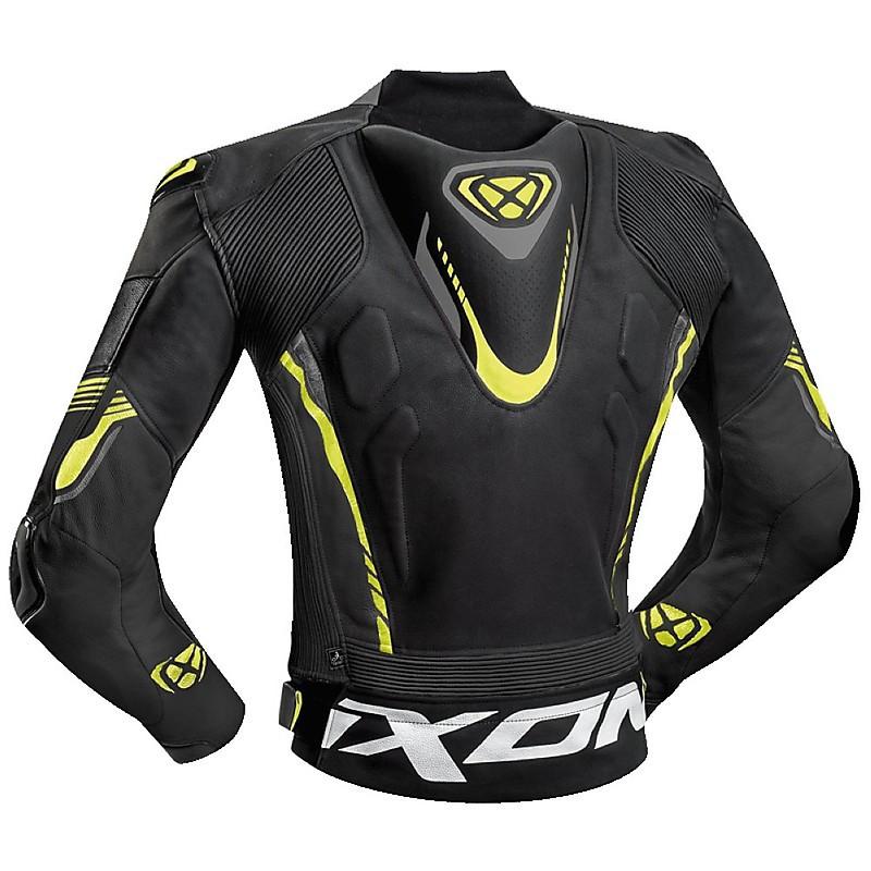 size 40 25e1b 01421 giacca moto pelle estiva ixon vortex 2 nero grigio giallo vivo2.jpg