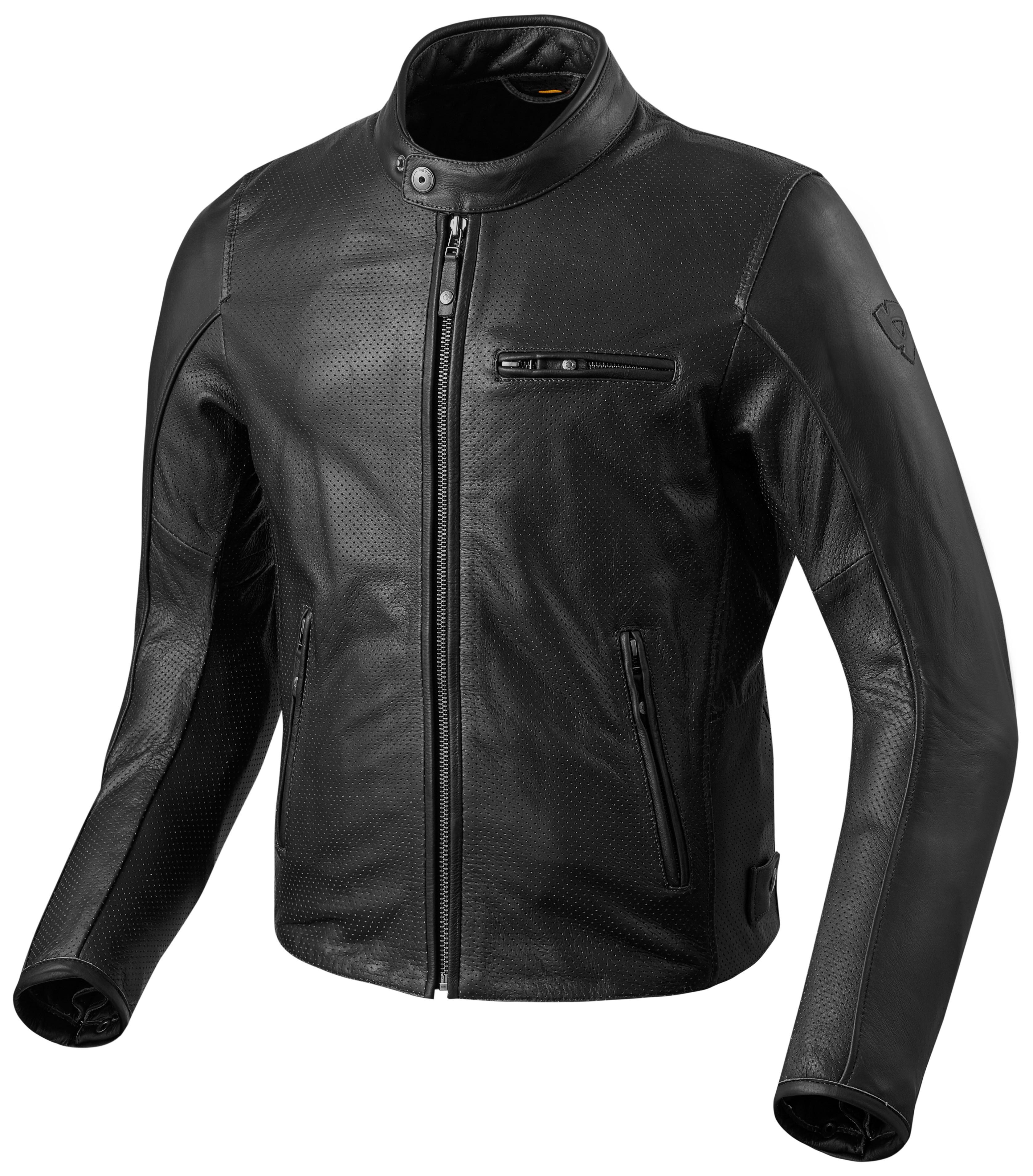 297b467b780eb7 Giacca moto pelle Rev'it Flatbush Air Vintage nera