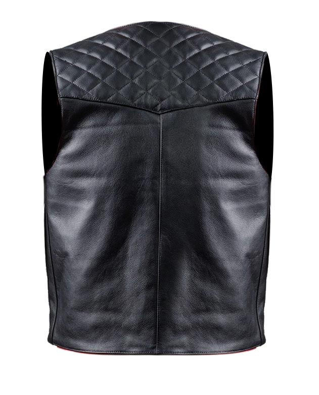 super popular 5fe68 1102b Gilet moto pelle Carburo Logan Nero