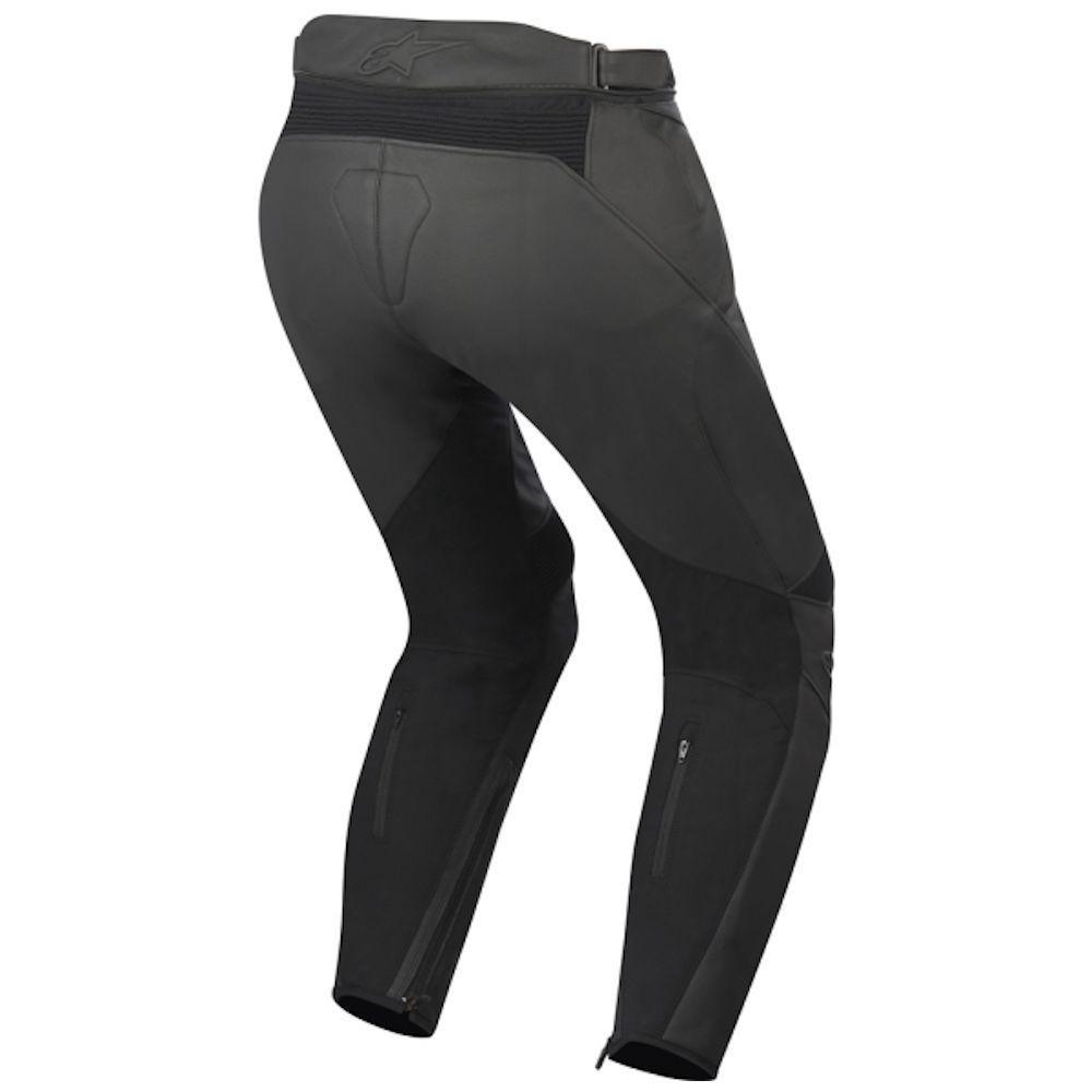 081e55a25e21e2 Pantaloni moto pelle donna Alpinestars Stella Jagg neri