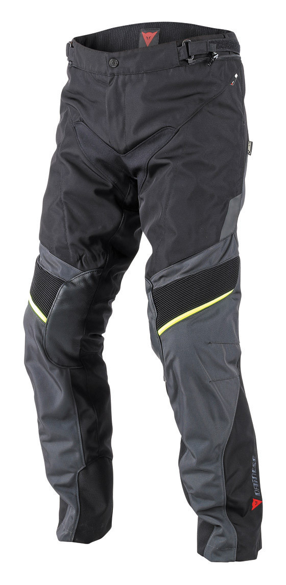 Pantaloni moto Dainese Ridder D1 Gore Tex nero ebony giallo fluo
