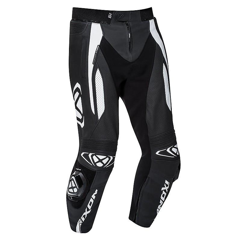 Vortex 2 Pantaloni Pelle Nero Estivi Bianco Ixon Moto PP1nzI