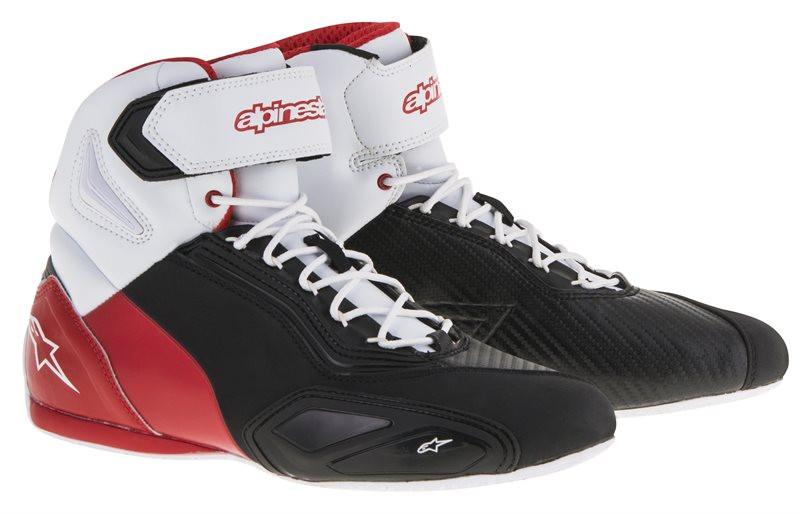 81bb9dc294257 Scarpe moto Alpinestars Faster-2 nero bianco rossi