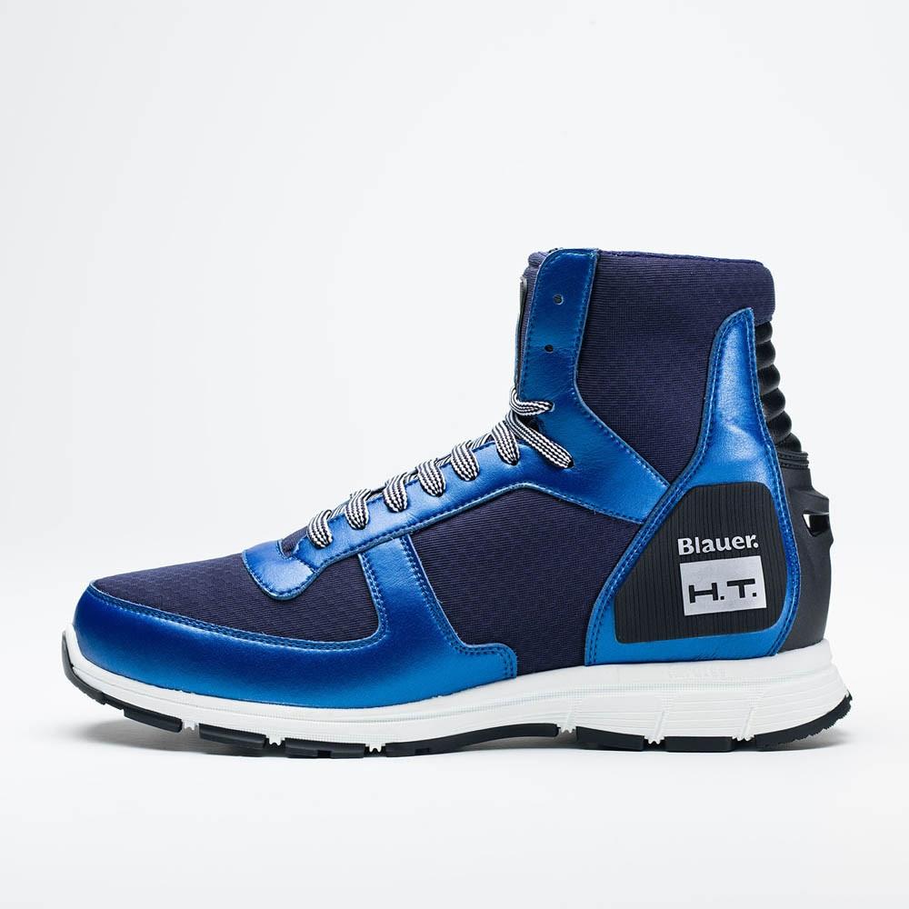 the best attitude 58a51 c95f6 Scarpe moto Blauer HT01 blu scuro blu suola bianca