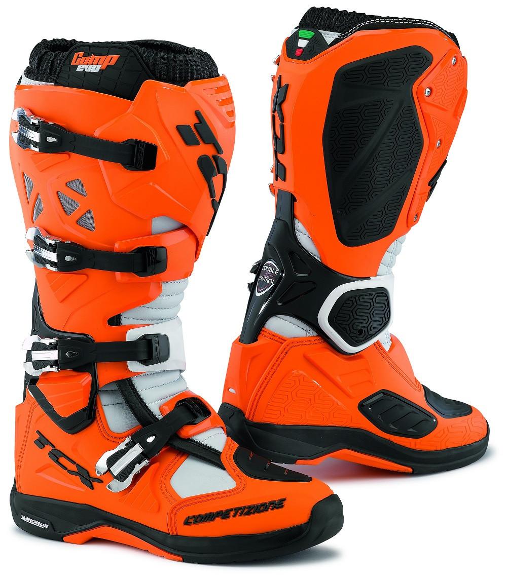 Stivali cross Tcx Comp Evo Michelin arancio nero