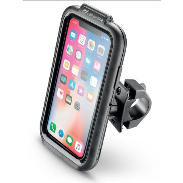 b7cf91e45b Supporto porta smartphone per Iphone XR Cellular Line ICASE per manubri  tubolari