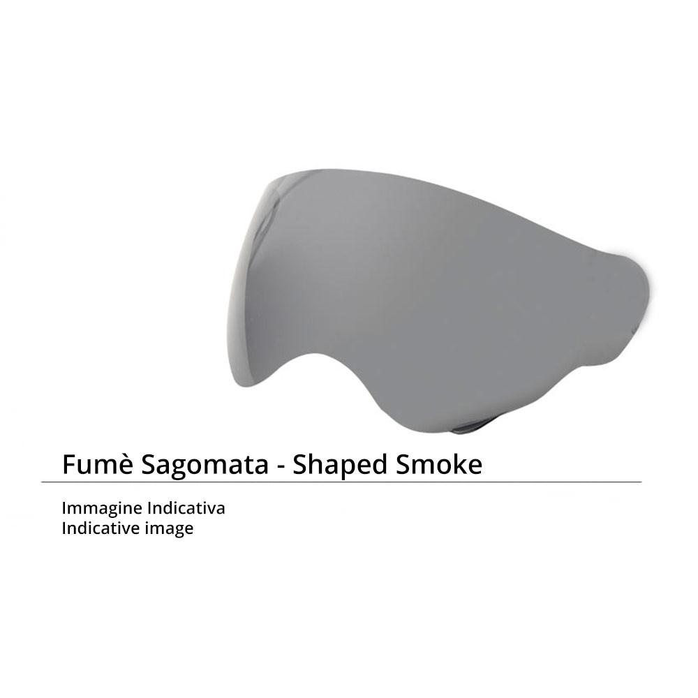 Visiera occhiale con elastico Airoh Antigraffio per caschi RIOT e GARAGE fumè scura