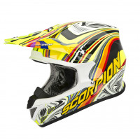 Casco cross Scorpion VX 20 Air Sym neon multicolor lucido