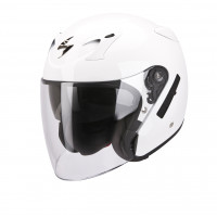 Casco jet Scorpion Exo 220 Solid bianco lucido