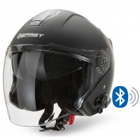 Casco jet Befast JET Connect Nero opaco con interfono integrato