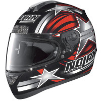 Casco moto Nolan N63 Stars nero-rosso