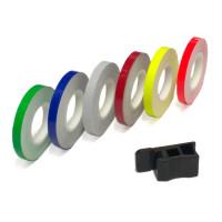 Adesivi per profili ruota LighTech arancione fluo