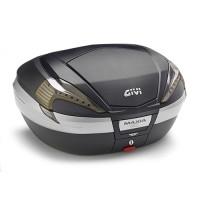 Bauletto Givi V56NNT Maxia 4 con catadiottri fumé cover nera e inserto carbon look 56 litri