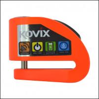 Bloccadisco con allarme Kovix KD6 perno 6 mm arancio fluo